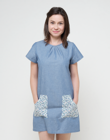 col vestido azul