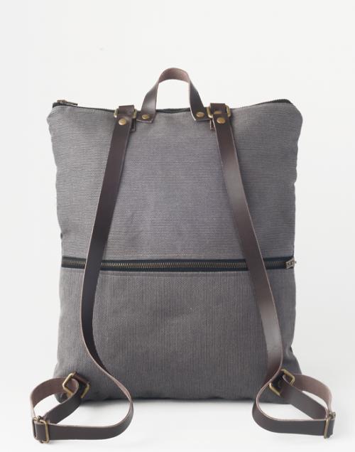 mochila sostenible bolsillo trasero