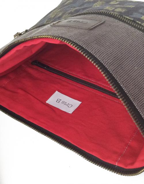 bolso mujer bandolera algodon organico interior