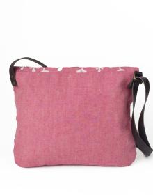 bolso bandolera lino ecologico rosa