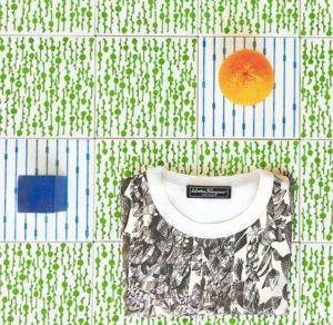 tejido sostenible naranja