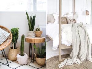 decoracion sostenible mimbre algodon