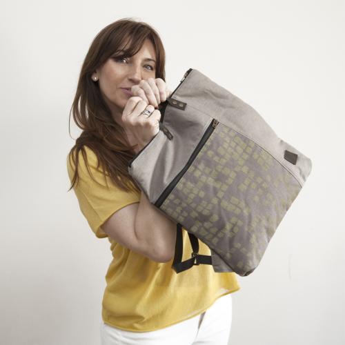 mochila asas algodón ecológico