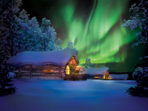 Aurora boreal noruega sostenible