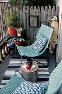 bonita terraza pequeña