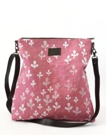 Bandolera lino ecologico rosa