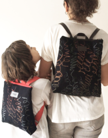 mochila niño mama sostenible ecologica
