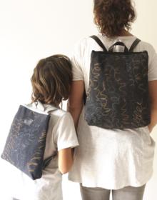 mochila sostenible niño mama
