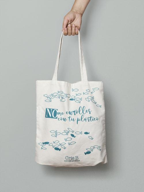 tote bag algodon organico sin plastico cris b