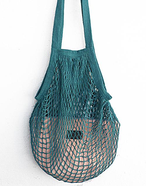bolsa red aguamarina y coral