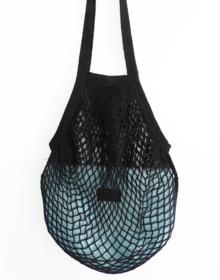 bolsa red negra y aguamarina