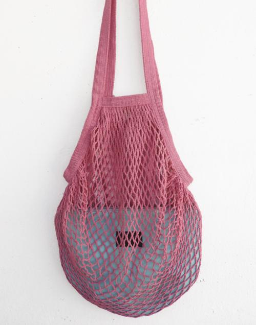 bolsa red rosa y aguamarina