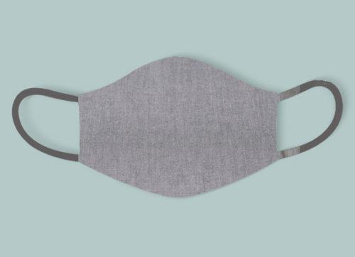 mascarilla reutilizable crisb gris azulado