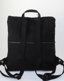 mochila negra algodon organico cris b
